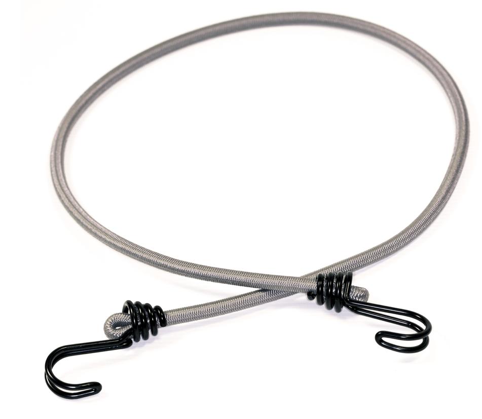 Expander Gummiseil 100cm Grau mit 2 Doppelhaken