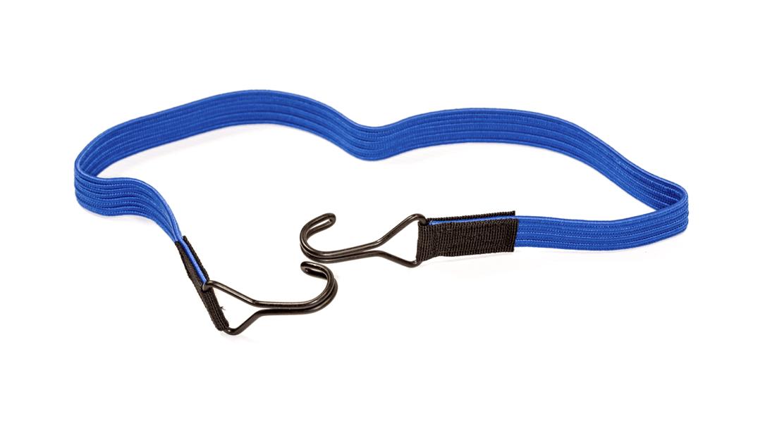 Flachgummibänder mit 2 Doppelhaken 80cm Blau - Expander