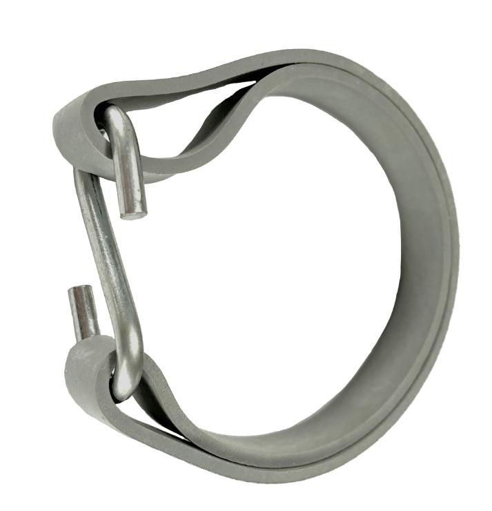 Gummi Ringe für Planen 180mm Ø 114mm Grau