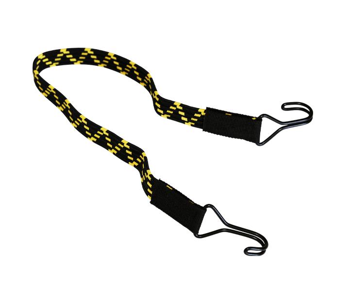 Flachgummiband mit 2 Doppelhaken 60cm Gelb und Schwarz